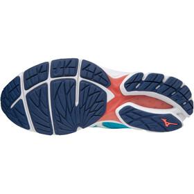 Mizuno Wave Rider 22 Running Shoes Women blue atoll/white/georgia peach